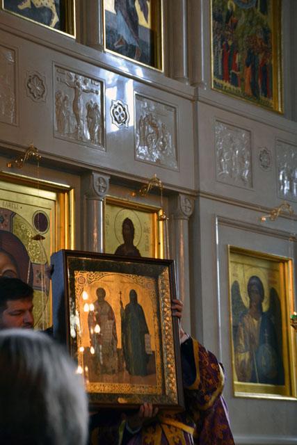 Подарок Святейшего Патриарха - икона святых Кирилла и Мефодия