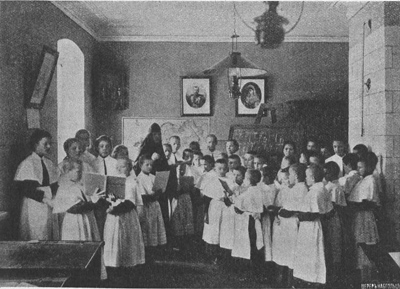 Урок пения в монастырской школе
