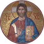 Мозаика на фасаде храма Всех Святых