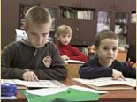Воскресная школа. Подготовительная группа на занятии чтения