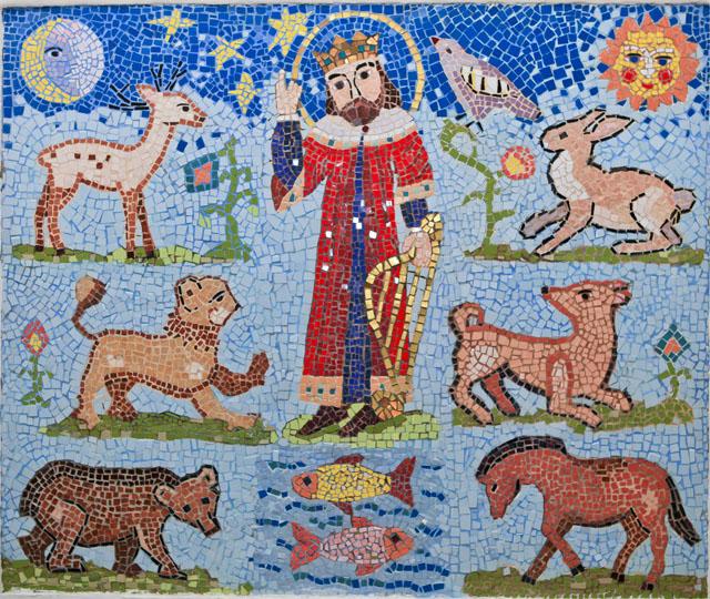Мозаичное панно Вcякое дыхание да хвалит Господа. Проект по предмету Русской художественной культуры